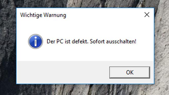Eigene Windows-Fehlermeldungen ©COMPUTER BILD