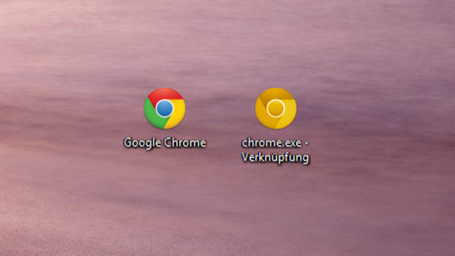 Google Chrome: Goldenes Icon © COMPUTER BILD