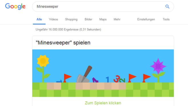 Google: Minesweeper spielen ©COMPUTER BILD