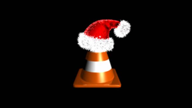 VLC Media Player mit Weihnachtsmütze ©COMPUTER BILD