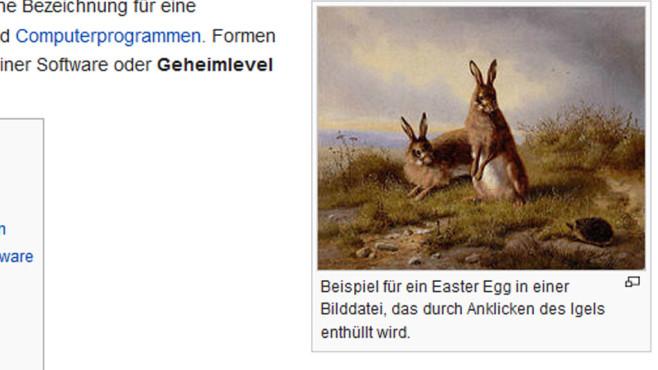 Wikipedia Eastereggs ©Wikipedia, COMPUTER BILD