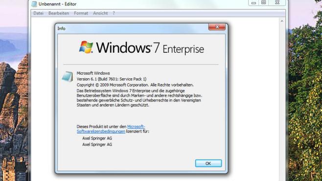 Windows 7/8: Versionsfenster mit individuellem Icon ©COMPUTER BILD