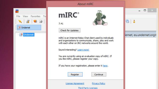 mIRC: Krokodil-Bild anzeigen ©COMPUTER BILD