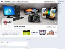 Screenshot Facebook-Auftritt COMPUTER BILD©COMPUTER BILD