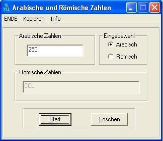 Screenshot 1 - Arabische und Römische Zahlen
