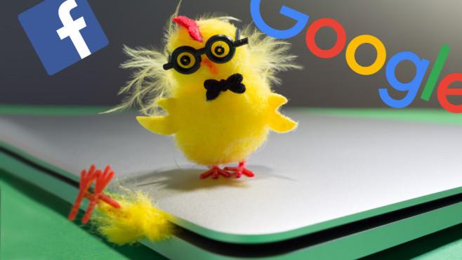 Das sind die witzigsten Easter Eggs bei google, Facebook & Co.©Google, Facebook, iStock.com/walik