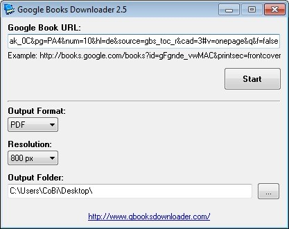 Screenshot 1 - Google Books Downloader