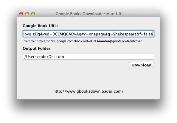 Screenshot 1 - Google Books Downloader (Mac)