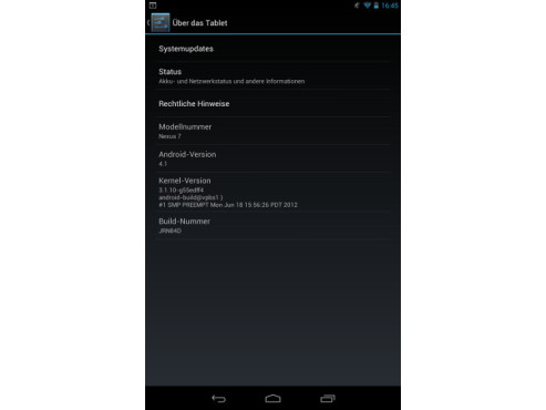 Android 4.1 ©Google