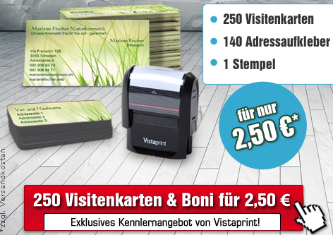 Vistaprint-Kennenlernaktion © Vistaprint