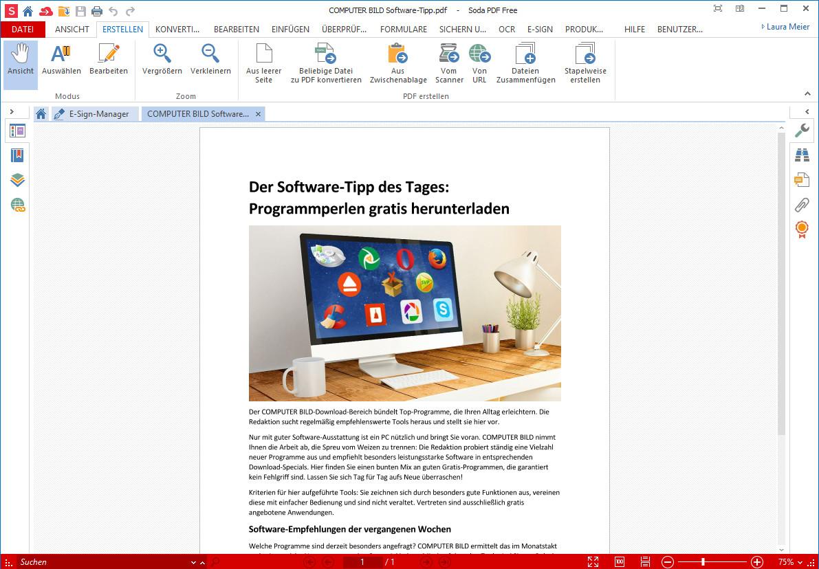 Screenshot 1 - Soda PDF Desktop
