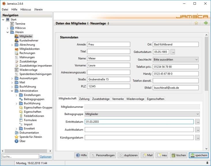 Screenshot 1 - JVerein