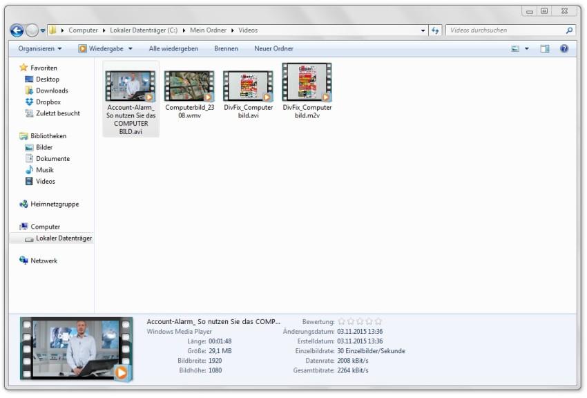 Screenshot 1 - Media Preview