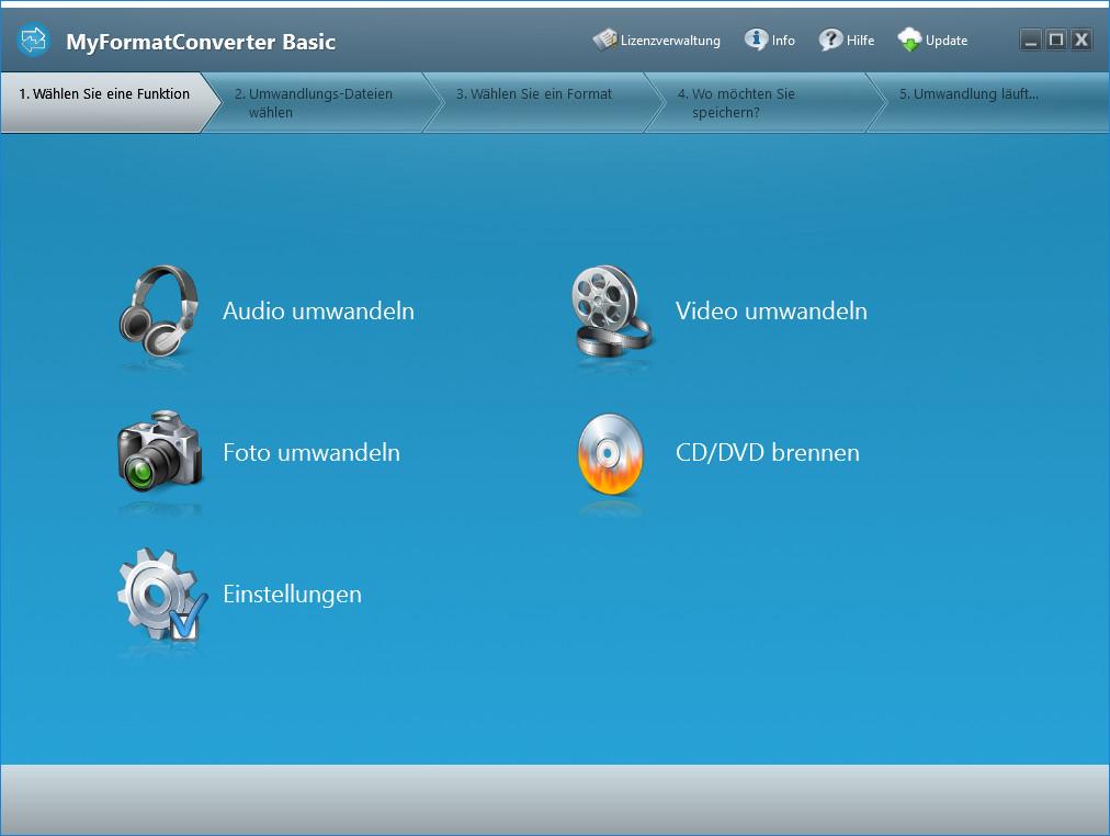 Screenshot 1 - MyFormatConverter Basic – Kostenlose Vollversion