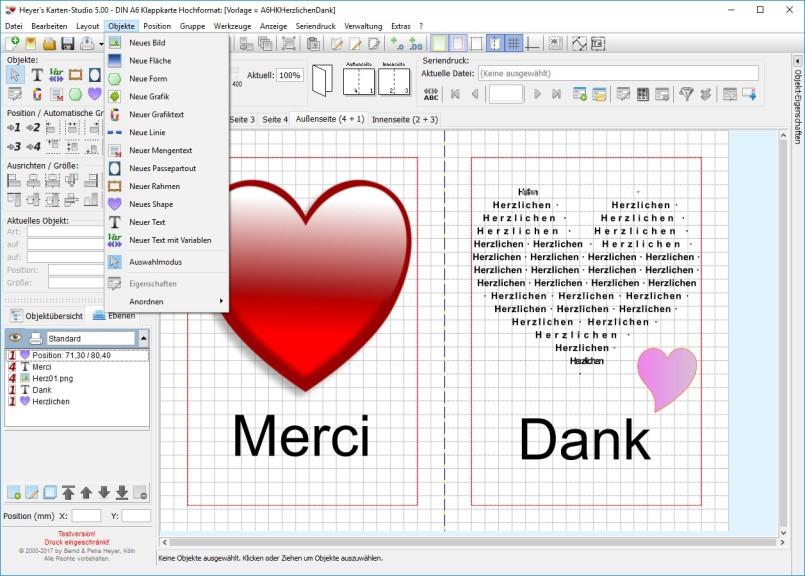Screenshot 1 - Heyer's Karten-Studio