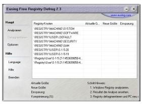 Eusing Free Registry Defrag Portable