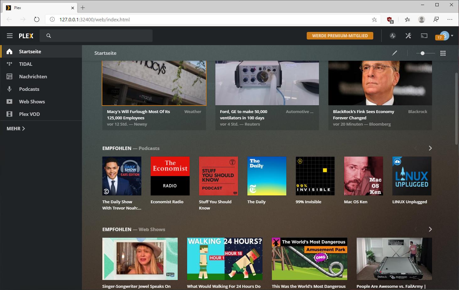 Screenshot 1 - Plex Media Server
