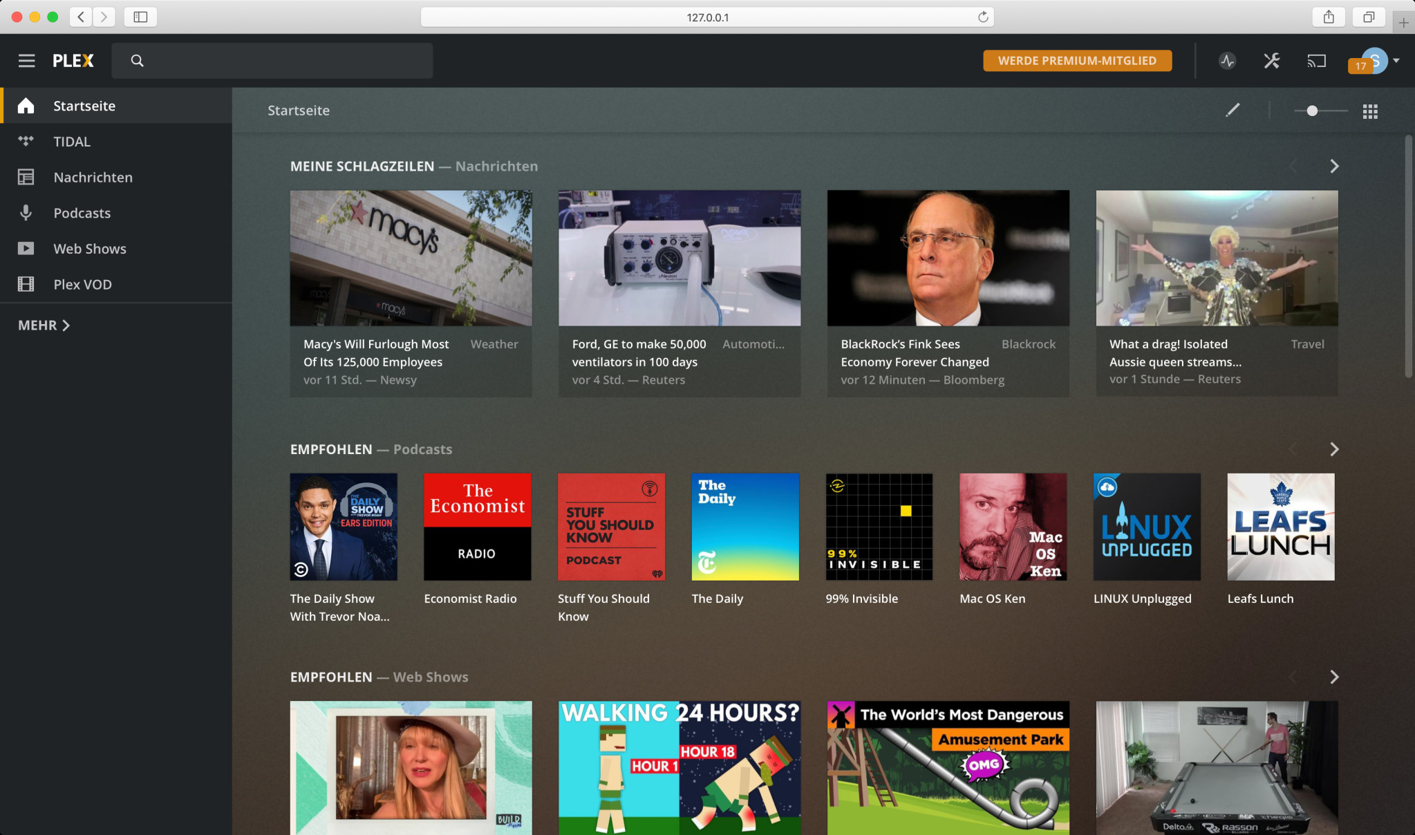 Screenshot 1 - Plex Media Server (Mac)