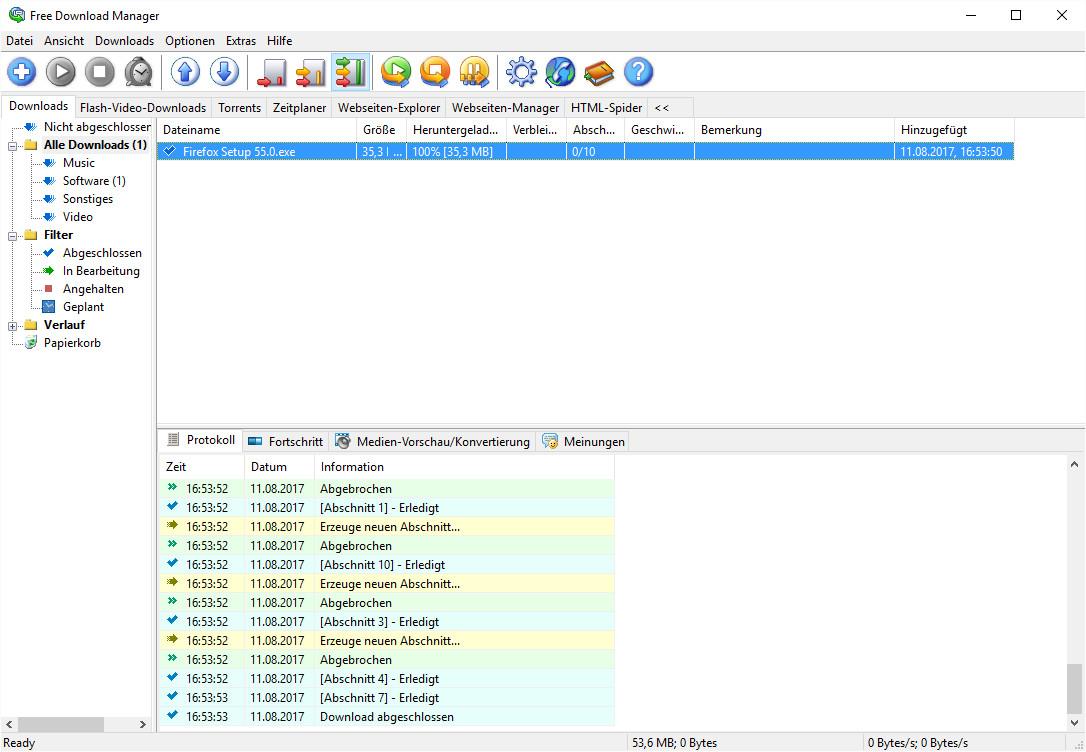 Screenshot 1 - Free Download Manager Portable