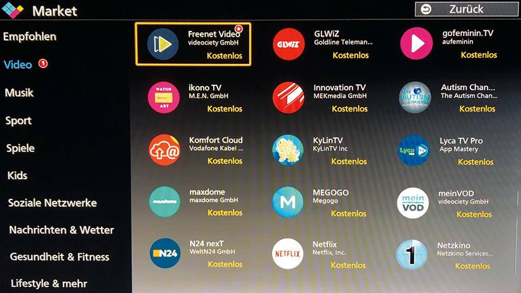 Smart-TV-Betriebssysteme im Überblick - Bilder, Screenshots - AUDIO