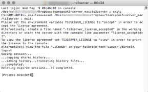 TeamSpeak Server (Mac)