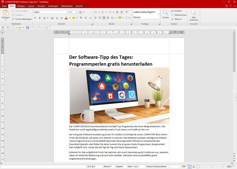 Screenshot 1 - SoftMaker FreeOffice 2021