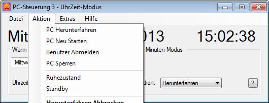 Screenshot 1 - PC-Steuerung