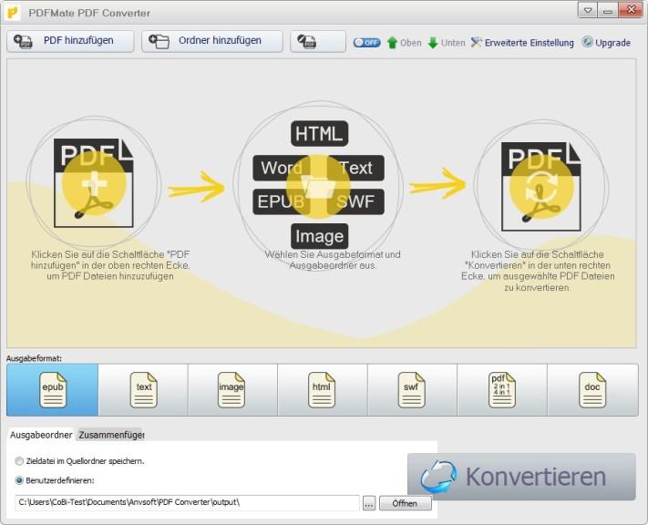 Screenshot 1 - PDFMate Free PDF Converter