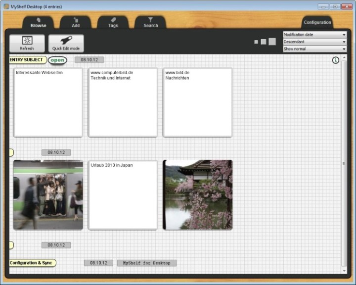 Screenshot 1 - MyShelf Desktop