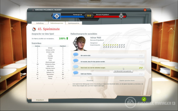 Simulation Fußball Manager 13: Halbzeit ©Electronic Arts