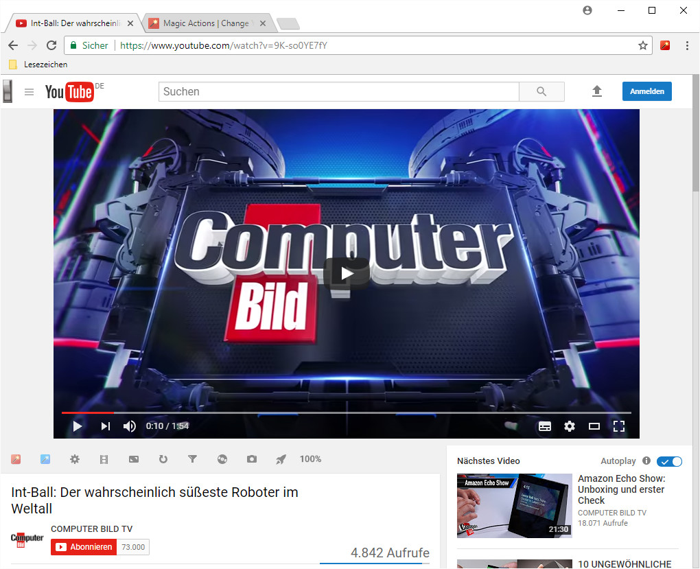Screenshot 1 - Magic Actions for YouTube für Chrome