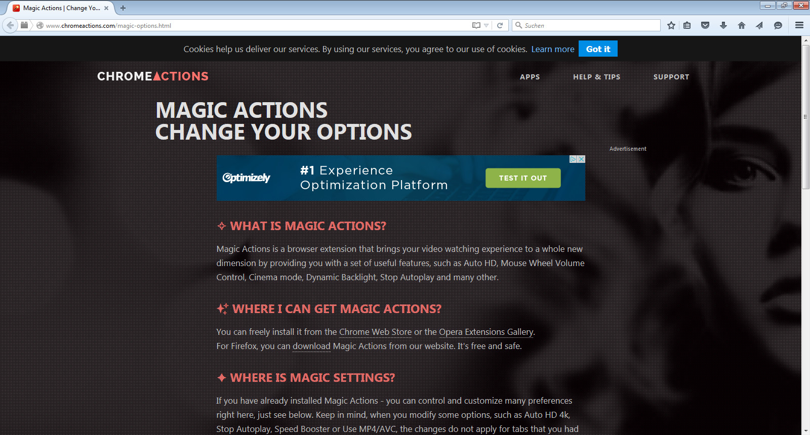 Screenshot 1 - Magic Actions for YouTube für Firefox