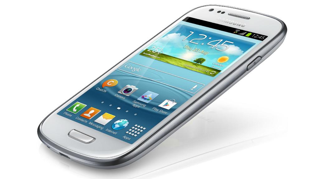 Samsung Galaxy S3 Mini: Test des kleinen Galaxy S3 Samsung Galaxy S3 Mini – im Design des großen Bruders, aber nur mit Vier-Zoll-Display.©Samsung