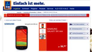 Samsung Galaxy S3 Mini bei Aldi©COMPUTER BILD