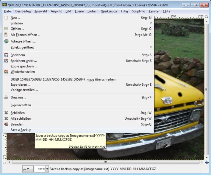 Screenshot 1 - Backup Working