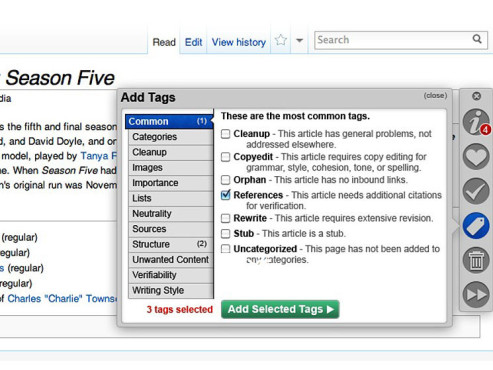 Entwurf Wikipedia-Redesign © http://wikimania2012.wikimedia.org/wiki/Submissions/The_Athena_Project:_Wikipedia_in_2015