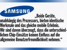 Galaxy S2 Offizielles Samsung-Statement©COMPUTER BILD
