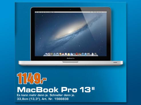 """MacBook Pro 13"""" MD101D/A ©COMPUTER BILD"""