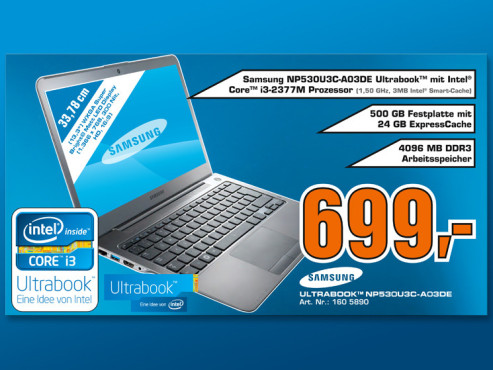 Samsung Ultrabook NP530U3C-A03DE ©COMPUTER BILD