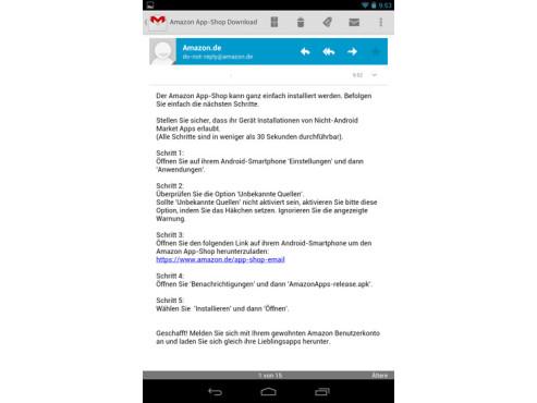Mail mit Download-Link ©COMPUTER BILD