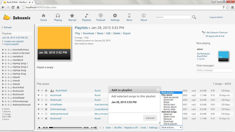Screenshot 1 - Subsonic