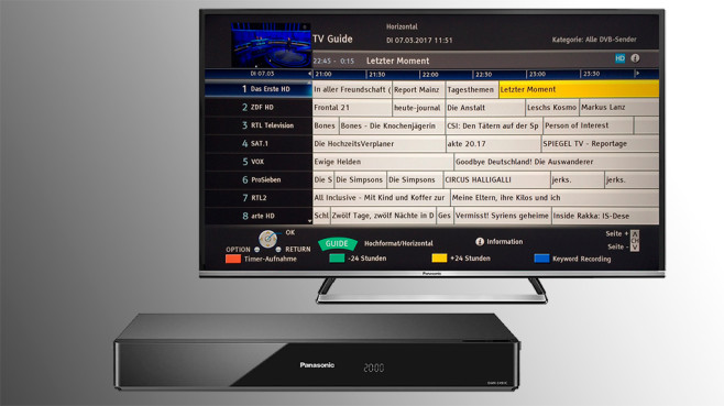 receiver und recorder digitales fernsehen aufnehmen audio video foto bild