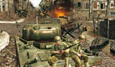 Call of Duty 3: In der Deckung eines Panzers rücken die Amerikaner vor.