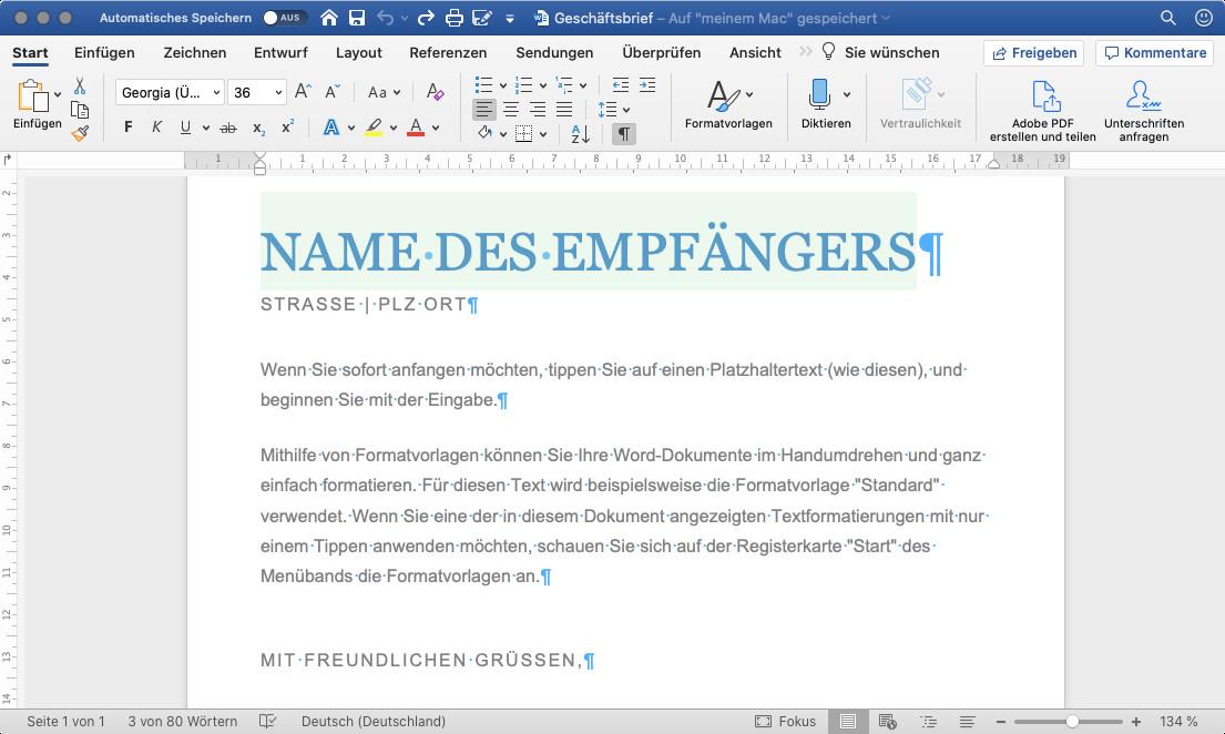 Screenshot 1 - Office für Mac in Microsoft 365 (Mac)