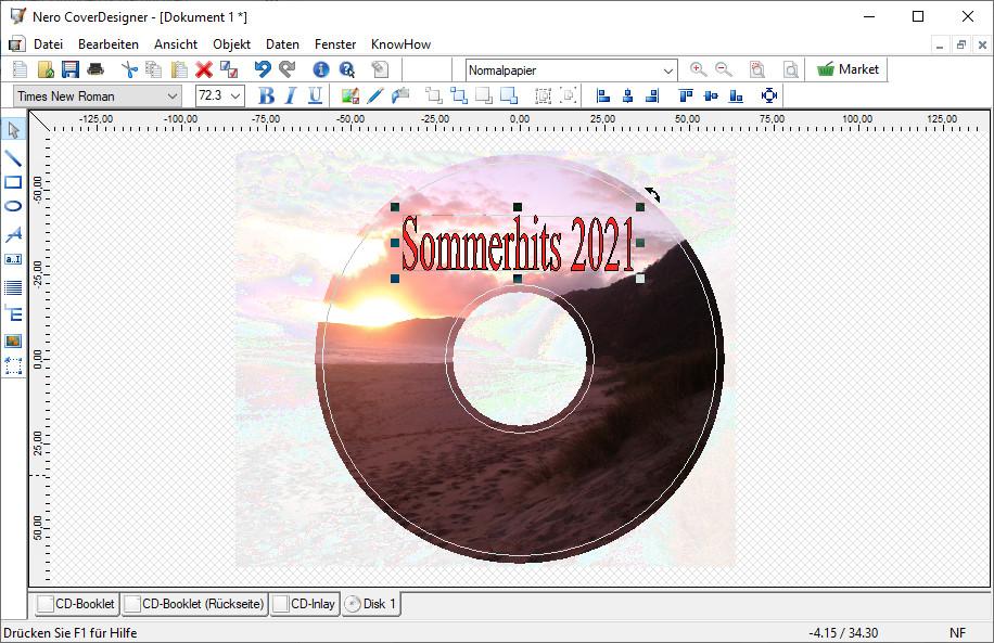 Screenshot 1 - Nero CoverDesigner