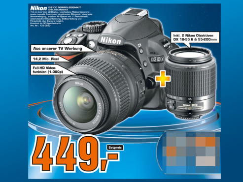 Nikon D3100 Kit 18-55 mm + 55-200 mm © Saturn