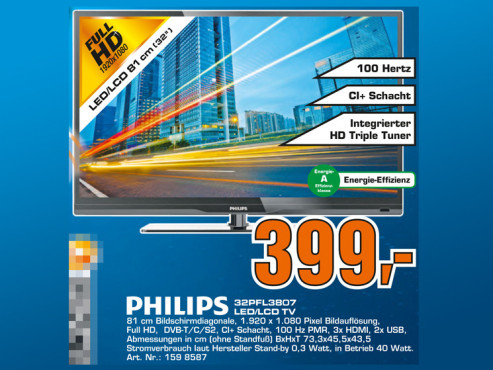 Philips 32PFL3807K © Saturn