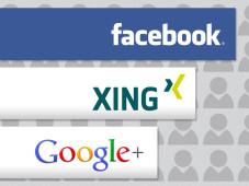 Aufholjagd: Google+©Facebook, Xing, Google, COMPUTER BILD