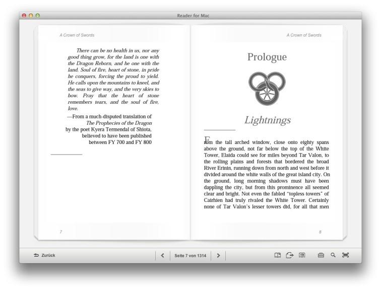 Screenshot 1 - Reader for Mac (Mac)