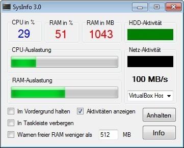 Screenshot 1 - SysInfo